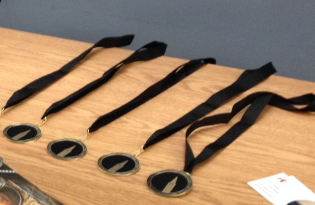 Winners will receive shiny medals like these ones.