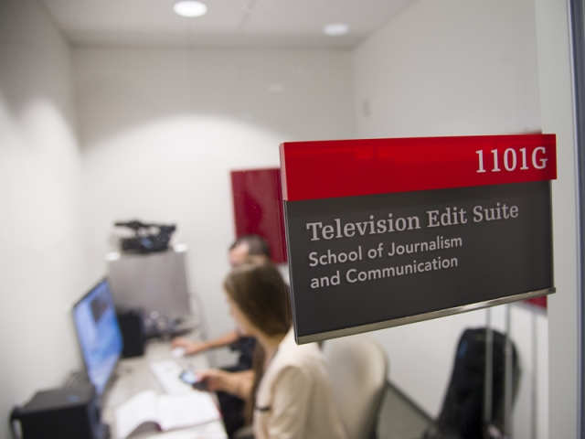 Another bonus of the River Building: state-of-the-art media facilities. The building is home to Carleton's nationally recognized School of Journalism and Communication.