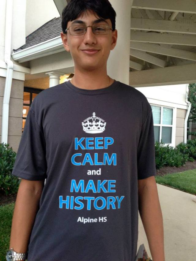 One of the hundreds of students who took part in the National History Day finals in College Park last year. (Nice T-shirt!)