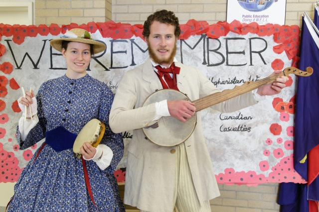 You never know who might show up at National Capital History Day — last year our participants were entertained by roving musicians. Photo by Jana Chytilova, National Capital History Day.