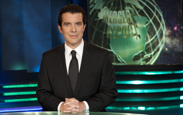 Rick Mercer has recorded a special greeting for NCHD students — from behind the RMR desk. But you'll have to come to Carleton University on May 1, 2015 to hear what he has to say to our historians. Credit: Courtesy cbc.ca