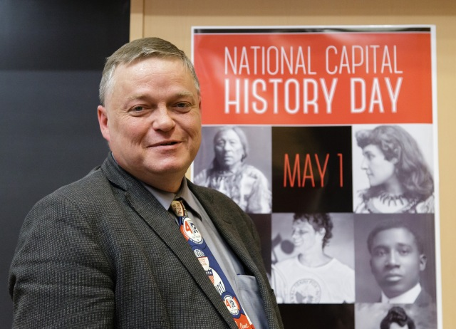Author, historian and speechwriter Arthur Milnes gave National Capital History Day's keynote address, which he started by defending today's youth. Photo by Jana Chytilova.