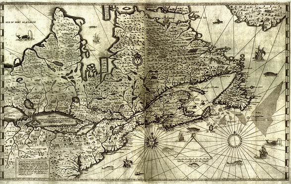 Map of New France, 1632. Where will you explore with this year's theme? Image credit: Library and Archives Canada.